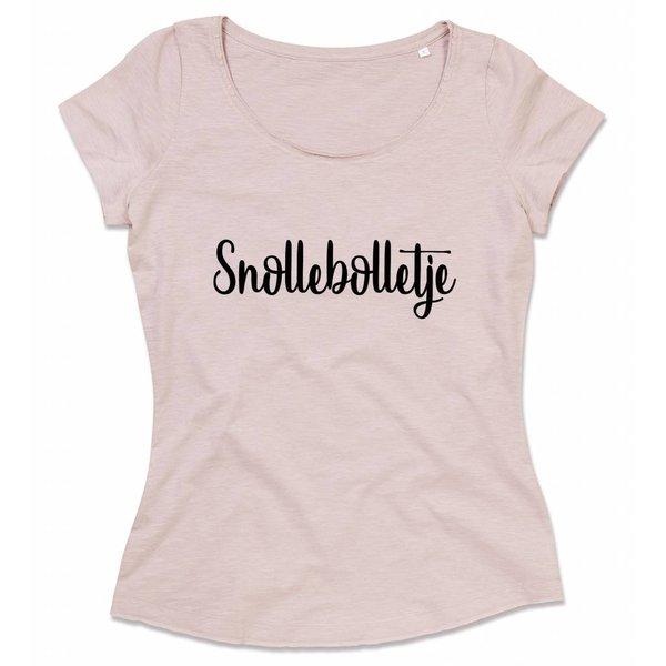 Ladies T-shirt met print: Snollebolletje