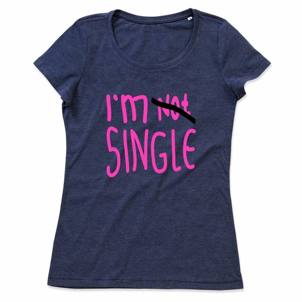 Ladies T-shirt met print:I'm Single
