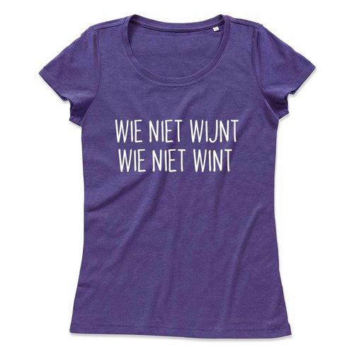 Wie niet wijnt wie niet wint
