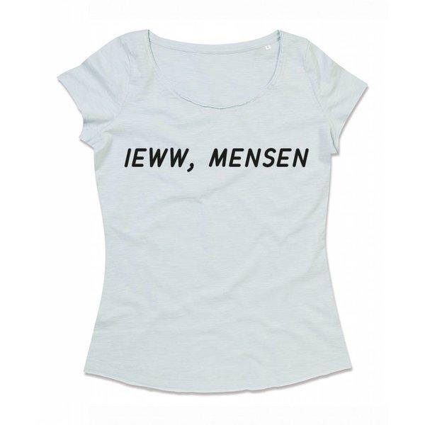 Ladies T-shirt met print: Ieww, mensen