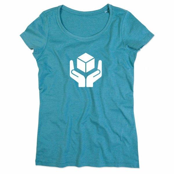T-shirt voor ladies met de opdruk: handle withe care