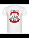 Heren T-shirt met opdruk:De Leraar De man De Mythe De Legende