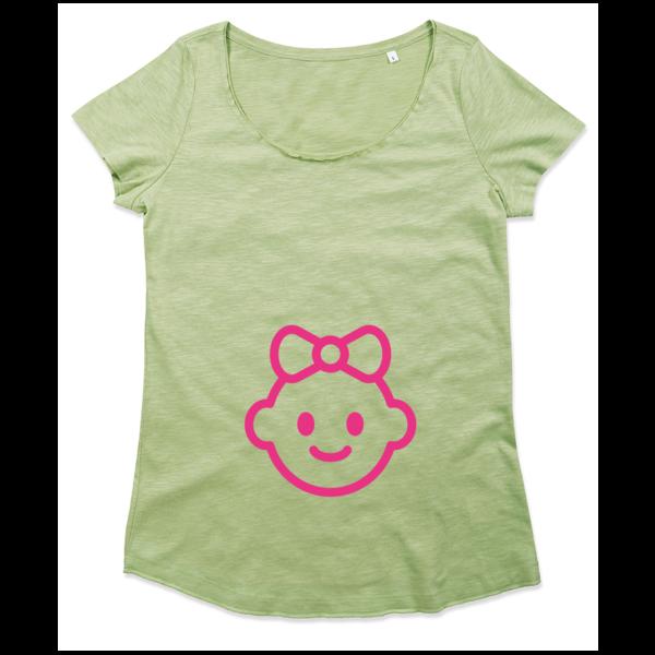 Ladies T-shirt met print Baby Girl Inside