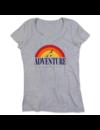 T-shirt voor ladies met de opdruk: Adventure awaits