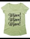 Ladies T-shirt met print:Wijnen! Wijnen! Wijnen!
