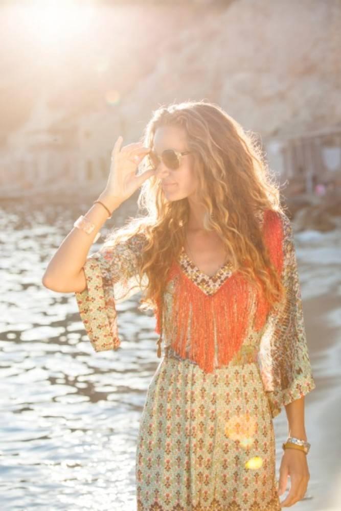 TESSA KOOPS LISA LIBERTY FRINGES DRESS