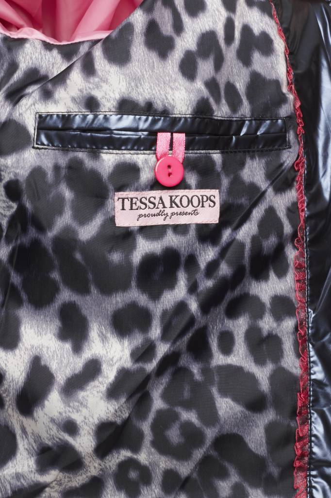 TESSA KOOPS QUINTY METALLICA BLUE JACKET