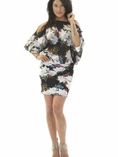 TESSA KOOPS GINA BLACK LILY DRESS
