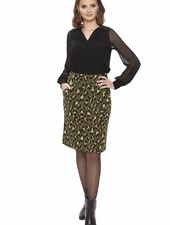 TESSA KOOPS CHRISTY LEO GREEN SKIRT