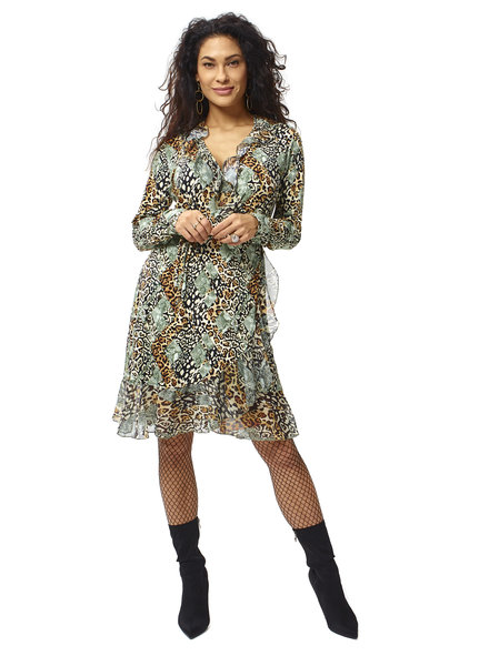 TESSA KOOPS INDIAN ANIMAL MIX KLEID