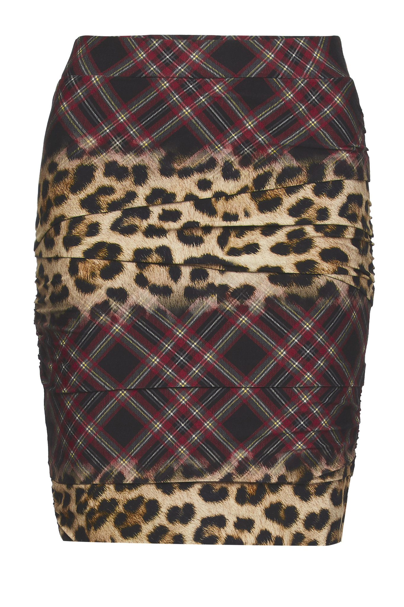 TESSA KOOPS KYLIE PANTER PLAID SKIRT