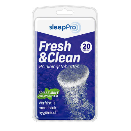 SleepPro Fresh & Clean Reinigingstabletten - 20 stuks