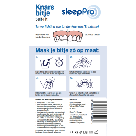 SleepPro Knarsbitje Self Fit