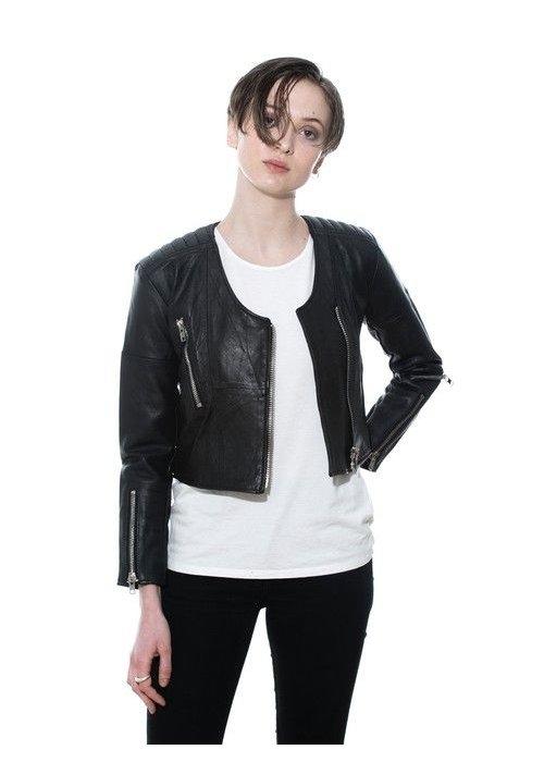 Deadwood Lola Jacket Black Leather