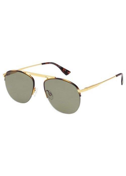 Le Specs Liberation Gold Tortoise Khaki Mono Lens