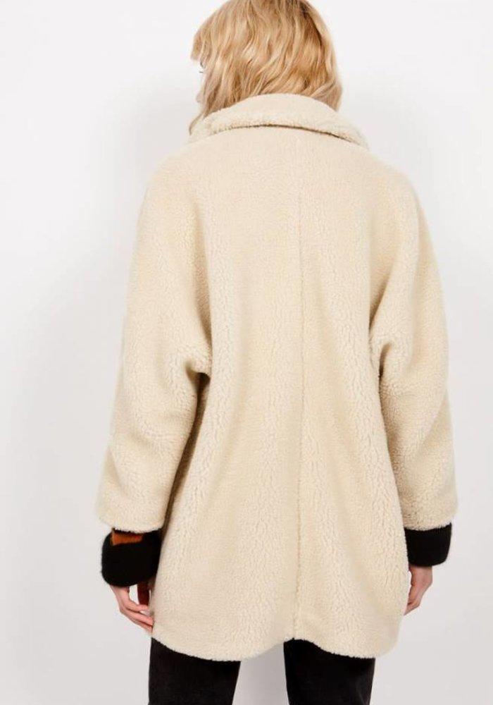 Patidole Teddy Coat Ecru White