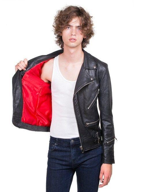 Vinnie Black Leather Jacket Men-4