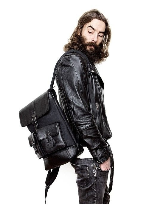 Deadwood Lucas Leather Backpack Black