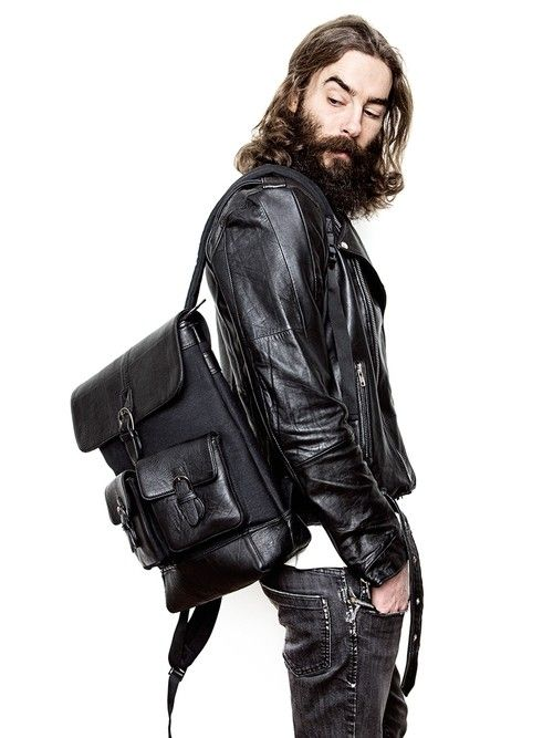 Lucas Leather Backpack Black-2