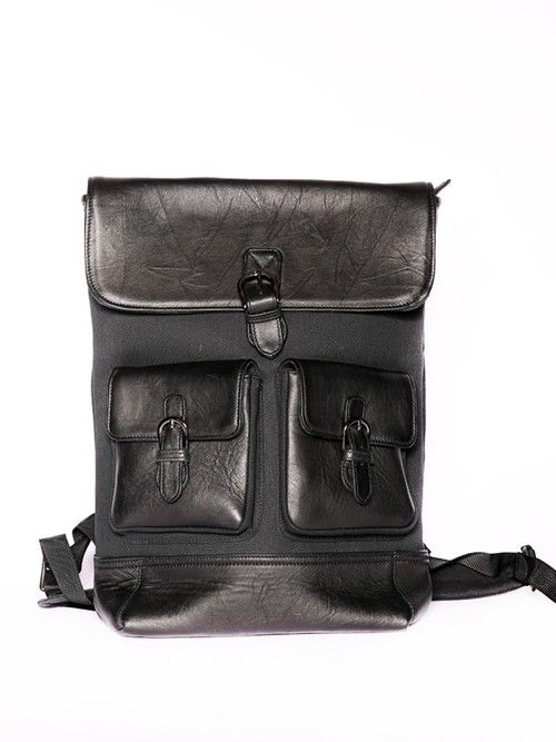 Lucas Leather Backpack Black-3