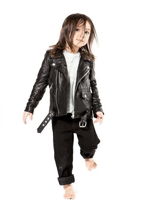 Deadwood Mini Biker Jacket Recycled Leather