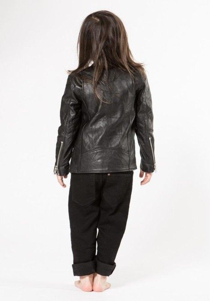 Mini Biker Jacket Recycled Leather