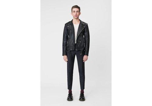 Deadwood Biker Jacket Men Black Leather