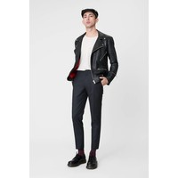 Vinnie Black Leather Jacket Men