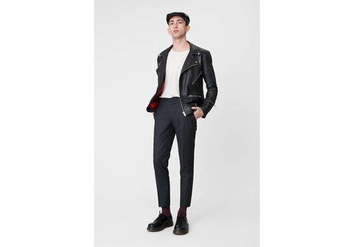 Deadwood Vinnie Black Leather Jacket Men