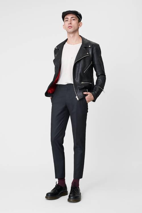 Vinnie Black Leather Jacket Men-2