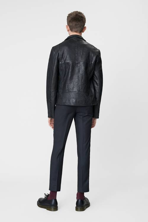 Vinnie Black Leather Jacket Men-3