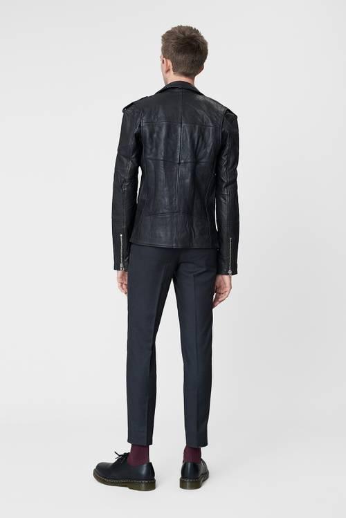 Biker Jacket Men Black Leather-2
