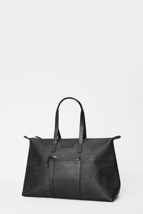 Recycled Leather Weekend Bag-1
