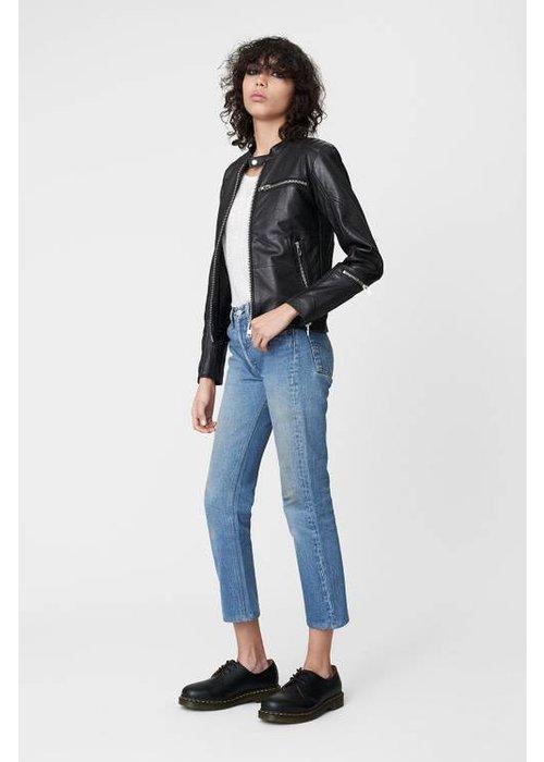 Deadwood Nevada Black Leather Jacket