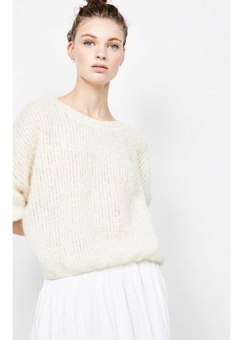 American Vintage Siribay Knit Pearl White