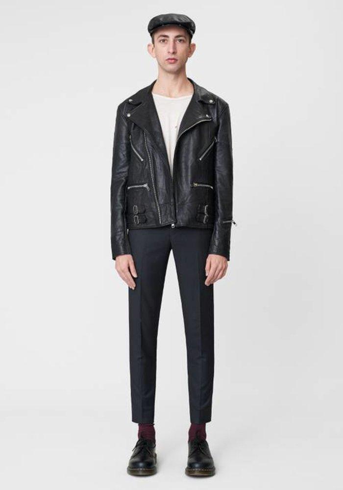 Taylor Black Leather Jacket
