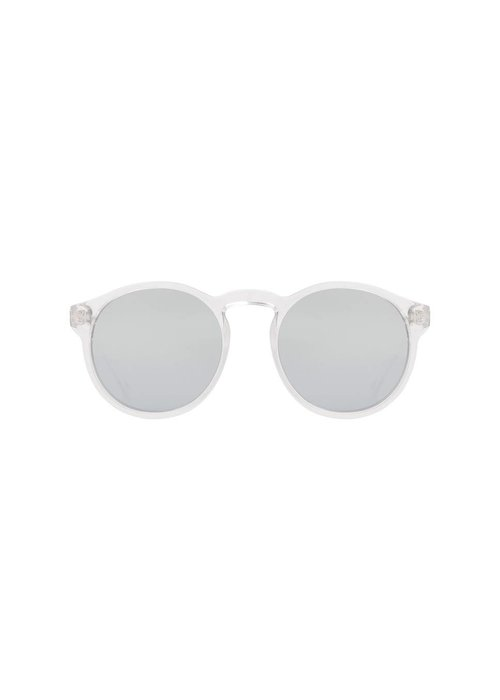 Le Specs Cubanos Transparent Silver Mono Lens