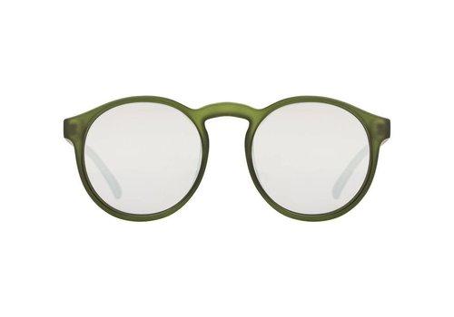 Le Specs Cubanos Matt Green Black Mono Lens
