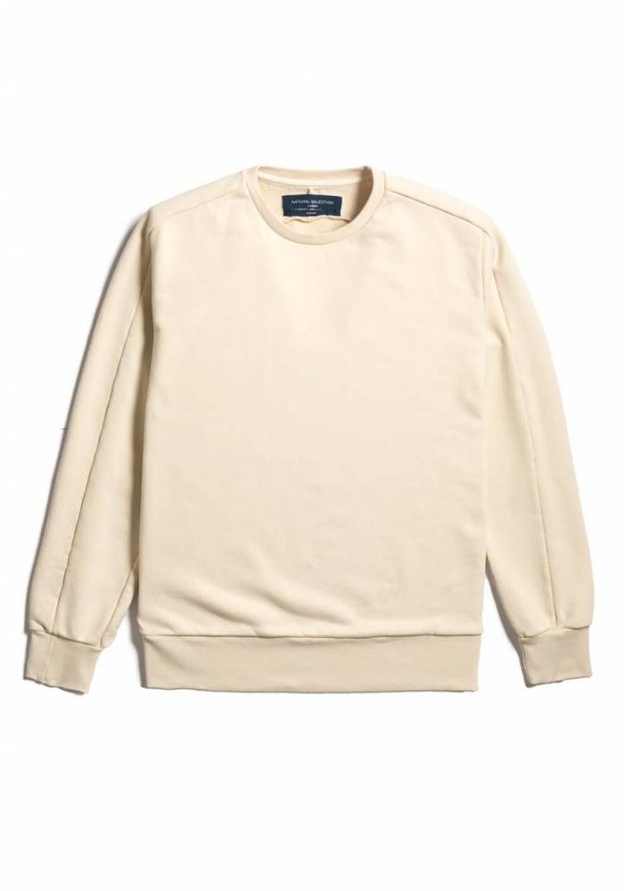 Linear Crew Sweat Ecru