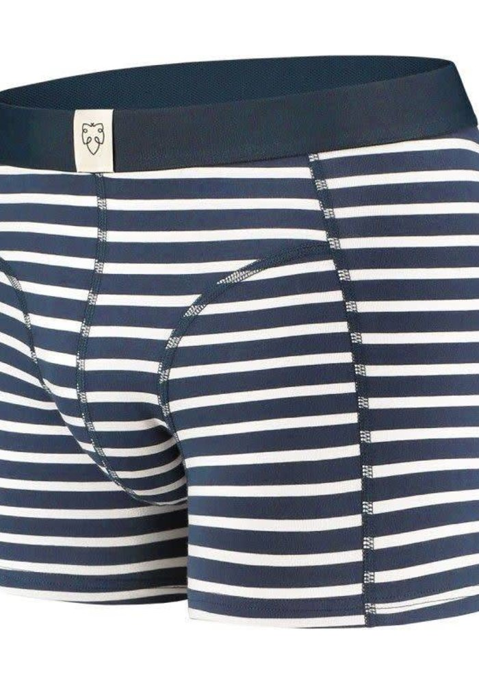 Nick Navy White Stripes