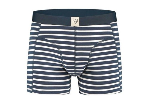A-dam Nick Navy White Stripes