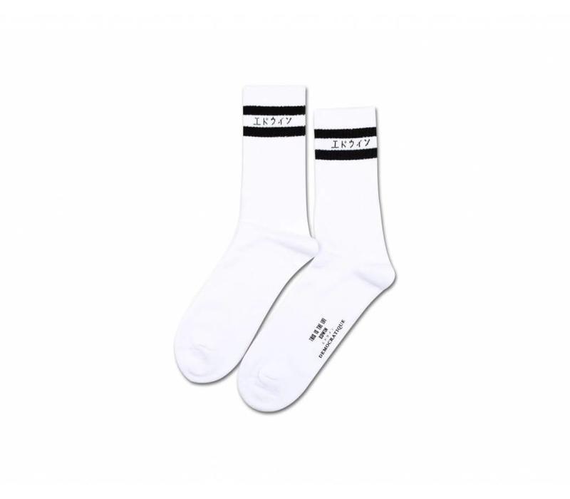 Edwin x Democratique Classic Socks White