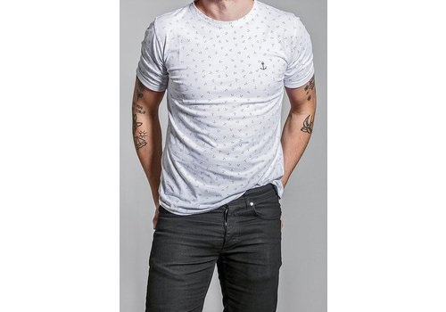 The Blue Uniform Embo Tee Spotted Navy
