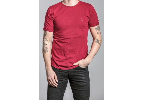 The Blue Uniform Embo Tee Bordeaux Red