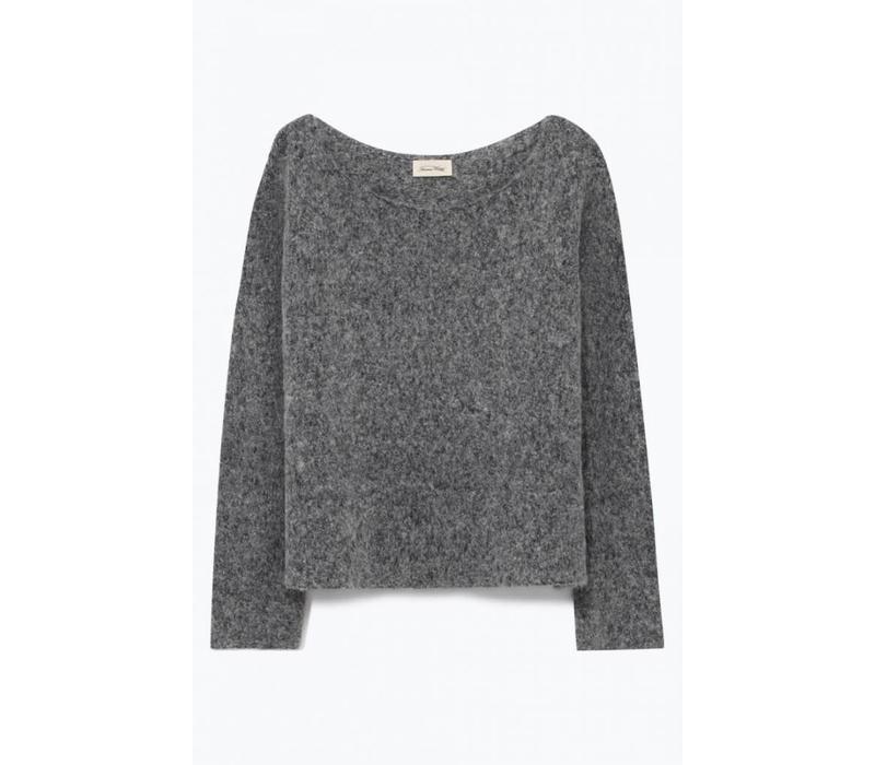 Zapitown Jumper Knit Grey Melange