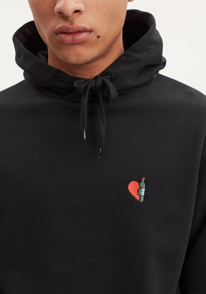 Unisex Copeland Wineheart Solid Black Hoodie