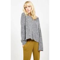 Zapitown Knitted Jumper Grey Melange
