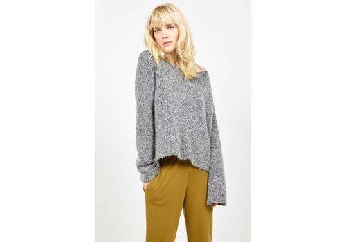 American Vintage Zapitown Knitted Jumper Grey Melange