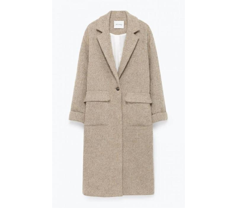Topitown Beige Melange Coat