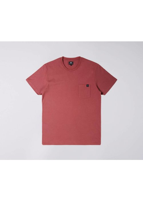 Edwin Jeans Pocked Tee Washed Oxblood Red